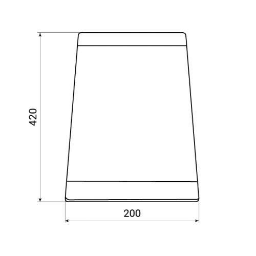 Blanco Steelart Clear Glass Chopping Board Tech