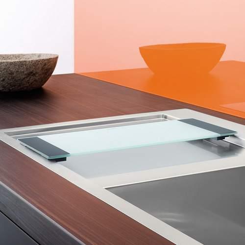 Blanco Steelart Clear Glass Chopping Board Lifestyle 2