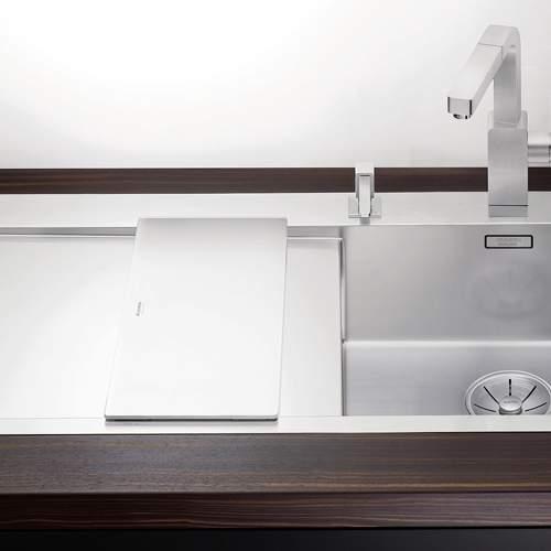 Blanco Steelart Elements White Glass Chopping Board Lifestyle 2