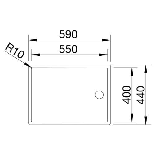 Blanco CLARON 550-T Steelart Elements Undermount Separate Drainer - Model: BL517276