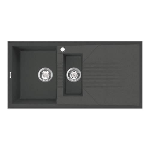 Reginox Tekno 475 1.5 Bowl Inset Black Granite Kitchen Sink