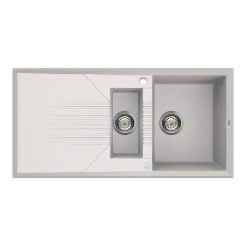 Reginox Tekno 475 1.5 Bowl Inset White Granite Kitchen Sink