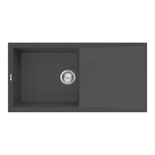 Reginox Tekno 480 Single Bowl Black Granite Kitchen Sink