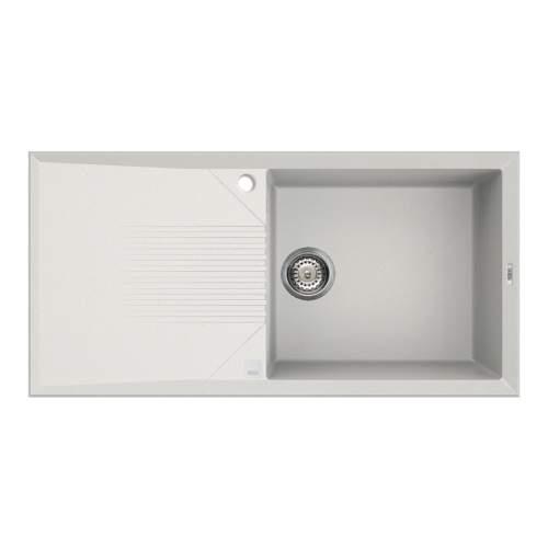 Reginox Tekno 480 Single Bowl White Granite Kitchen Sink