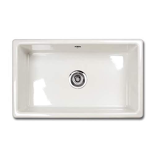 Shaws CLASSIC SINGLE 800 Inset Large Bowl Sink - White