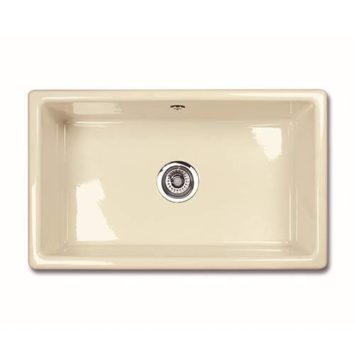 Shaws CLASSIC SINGLE 800 Inset Large Bowl Sink - Biscuit