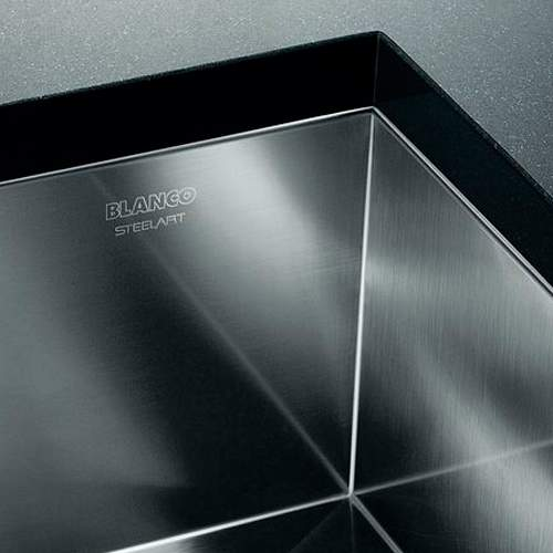 Blanco ZEROX 180-U Steelart Elements Undermount Kitchen Sink - Model: BL467703