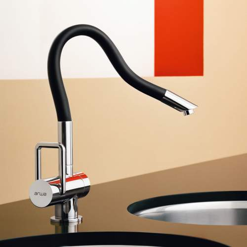 Arwa TWINFLEX Single Side Lever Designer Kitchen Mixer Tap with Flexible Spout