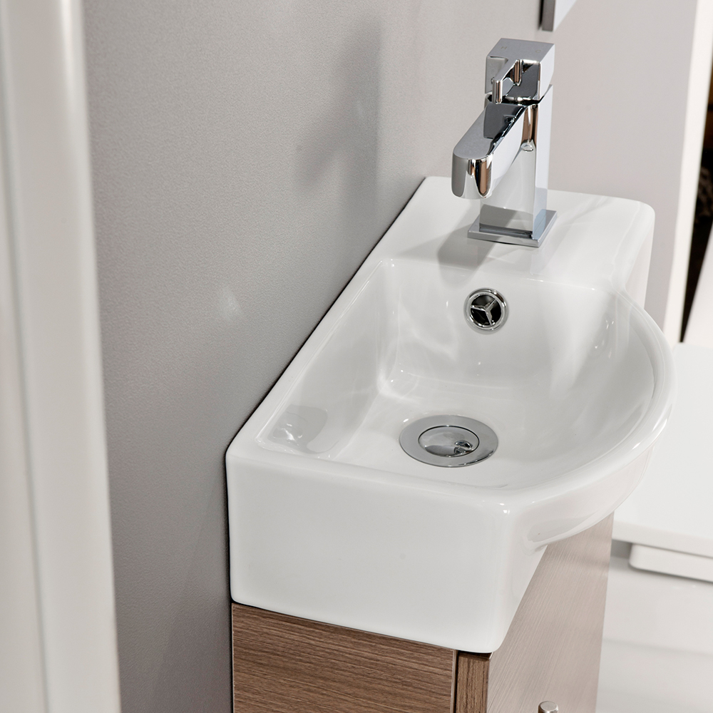 Aquabro 400mm Medium Oak Mini Bathroom Unit With