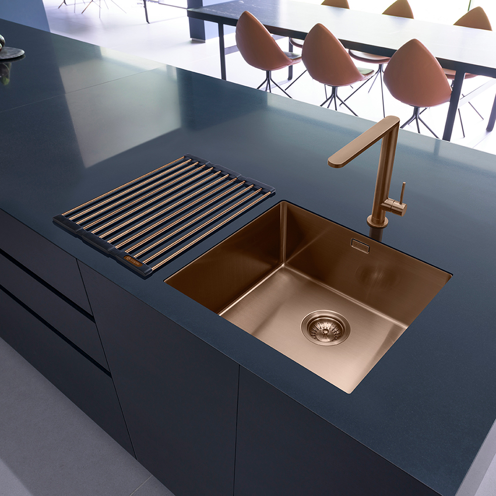inset kitchen sink caple mode 45 versatile single bowl sink sinks taps 1870
