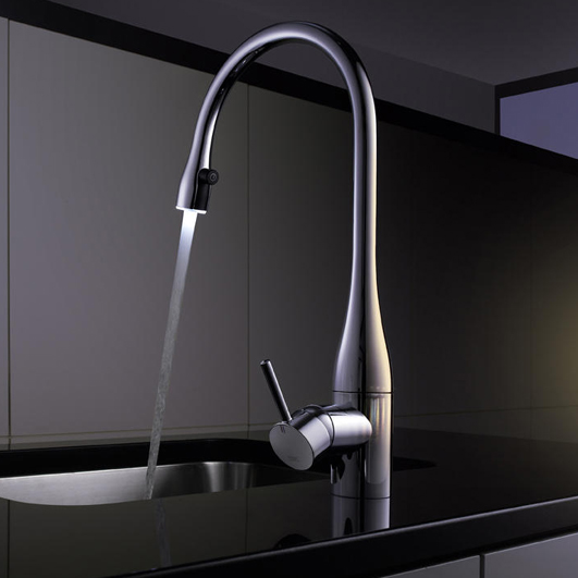 Kwc Eve Kitchen Mixer Tap With Pull Out Spray Amp Led