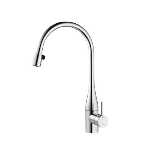 KWC EVE Kitchen Mixer Tap with Pull-Out Spray & LED in Chrome