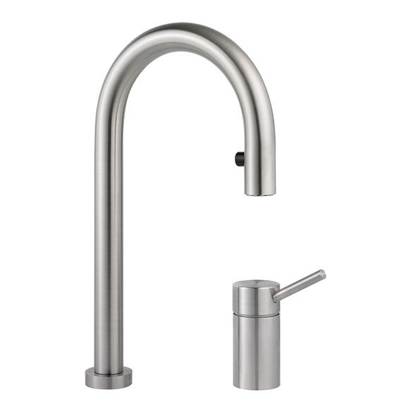 2 Hole LED Kitchen Tap W Pull-Out Spray