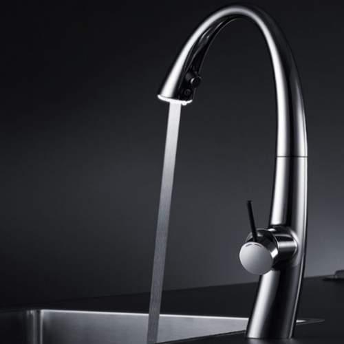 KWC ZOE Designer Kitchen Mixer Tap with Pull-Out Spray & Luminaqua LED Technology
