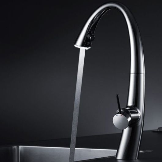 Kwc Zoe Kitchen Mixer Tap With Pull Out Spray Led Spout