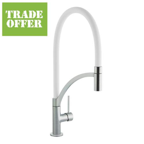 Bluci ARCO Pull-Out Hose Single Lever Professional Tap with White Hose
