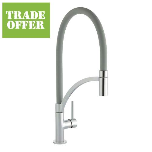 Bluci ARCO Pull-Out Hose Single Lever Professional Tap with Grey Hose