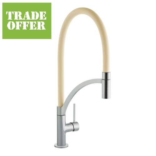 Bluci ARCO Pull-Out Hose Single Lever Professional Tap with Cream Hose
