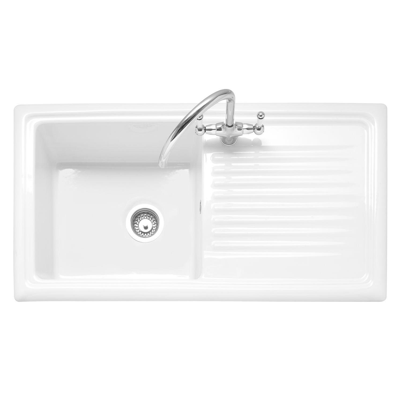 Caple WILTSHIRE 100 Single Bowl Inset Ceramic Kitchen Sink - Sinks ...