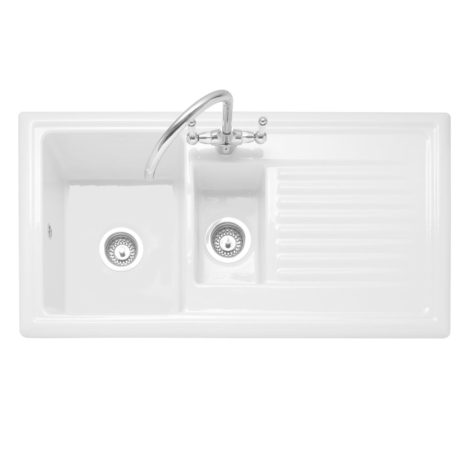 Caple WILTSHIRE 150 1.5 Bowl Inset Ceramic Kitchen Sink - Sinks ...