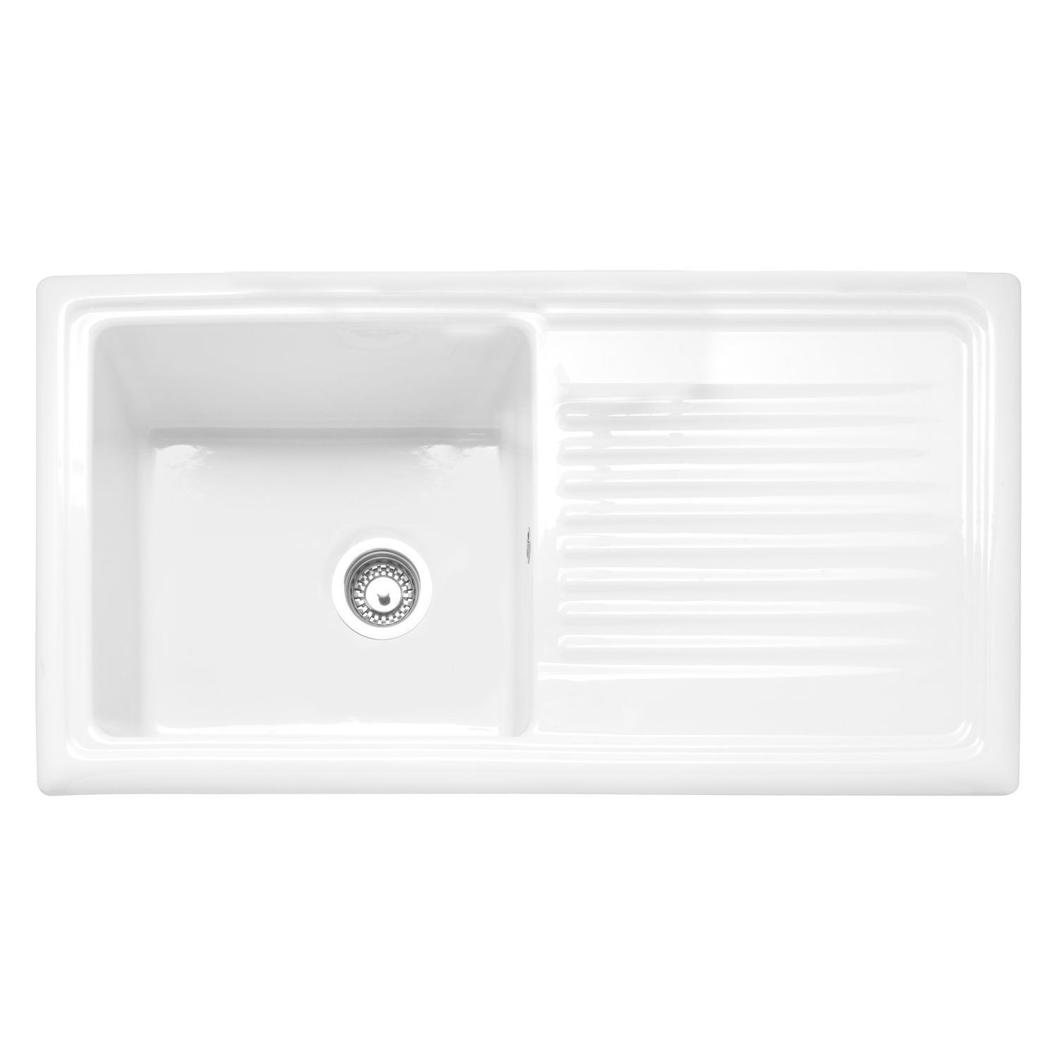 Caple Wiltshire 100 Single Bowl Inset Ceramic Kitchen Sink