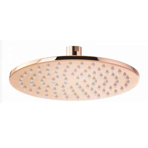Abode 7mm Rose Gold Circular Showerhead - 200mm Diameter - AB2608