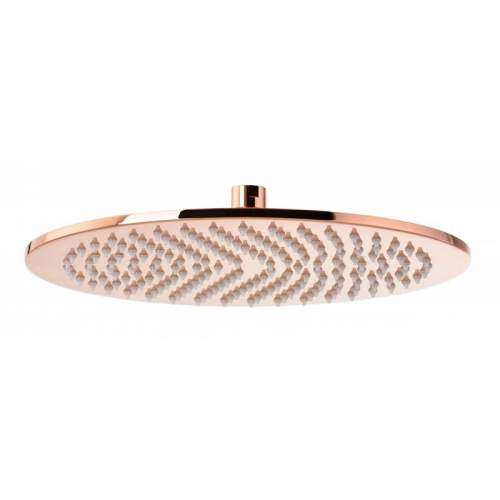 Abode 7mm Rose Gold Circular Showerhead - 300mm Diameter - AB2609