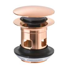 Abode Rose Gold Basin Clicker Waste - AB2613