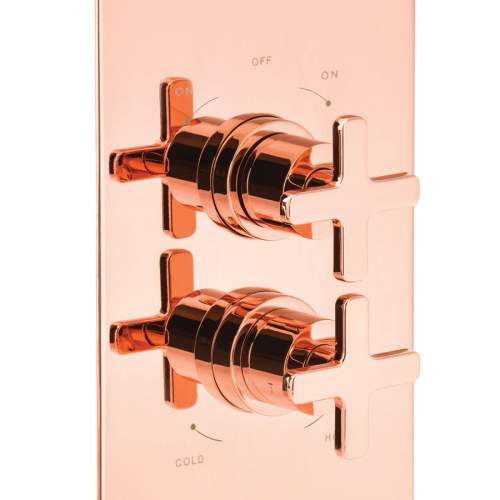 Abode Serenitie Concealed Thermostatic Shower Valve in Rose Gold - AB2606