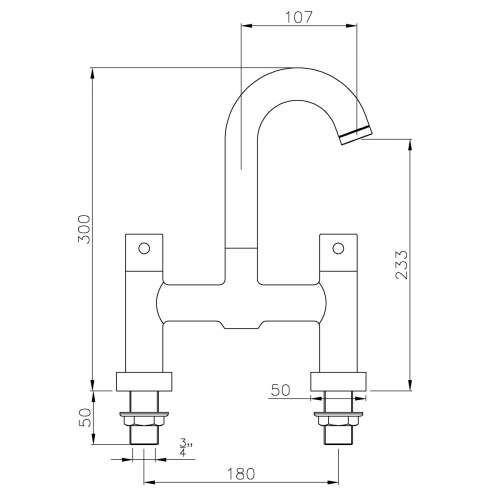 Abode Harmonie Deck Mounted Bath Filler AB1185 - AB2623