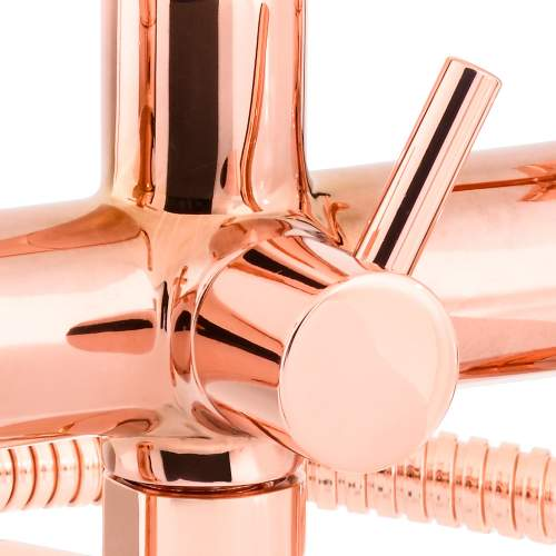 Abode SERENITIE Deck Mounted Bath Shower Mixer Tap with Handset in Rose Gold - AB2603