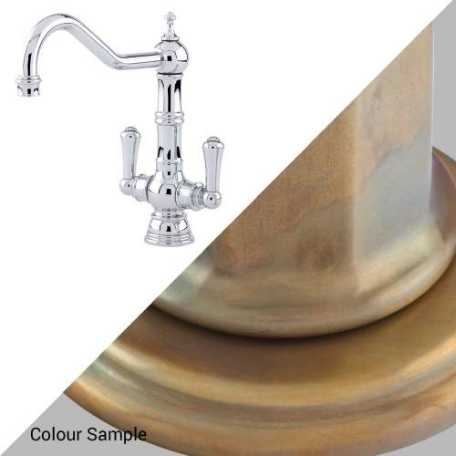 Perrin and Rowe 4761 Picardie Kitchen Tap - 4761 Aged Brass
