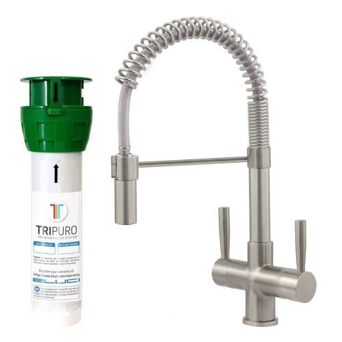 Bluci FiltroPro Professional Filter Kitchen Tap in Brushed Finish