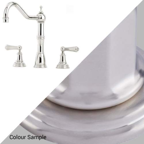 Perrin and Rowe ALSACE 4771 Three Hole Mixer Kitchen Tap with Lever Handles