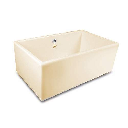 Shaws SHAKER 800 Kitchen Sink in Biscuit