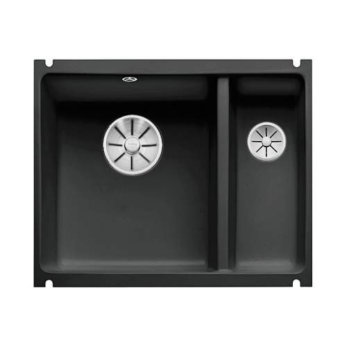Blanco SUBLINE 350/150U CERAMIC Undermount Kitchen Sink Black