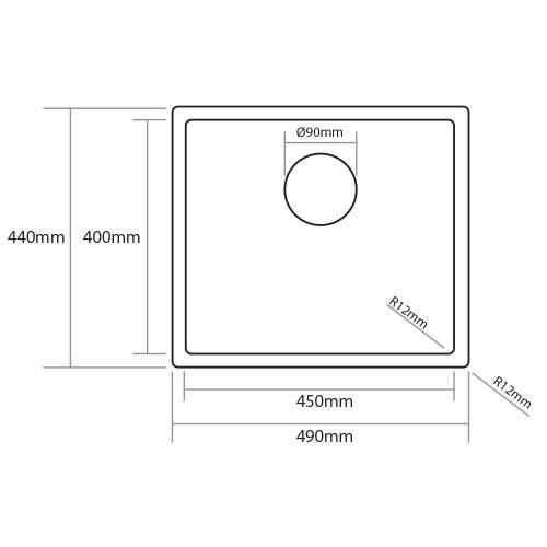 Caple Mode 45 Versatile Single Bowl Sink Technical Image