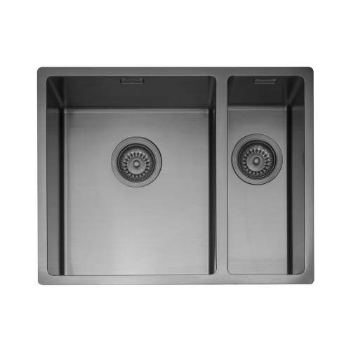 Caple MODE 3415 1.5 Bowl Kitchen Sink in Gunmetal Grey MODE3415/R/GM