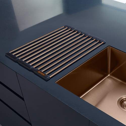 Caple Universal Stainless Steel Fold Mat in Copper Lifestyle