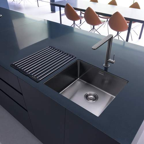 Caple Mode 45 Versatile Single Bowl Sink Gunmetal Grey Lifestyle