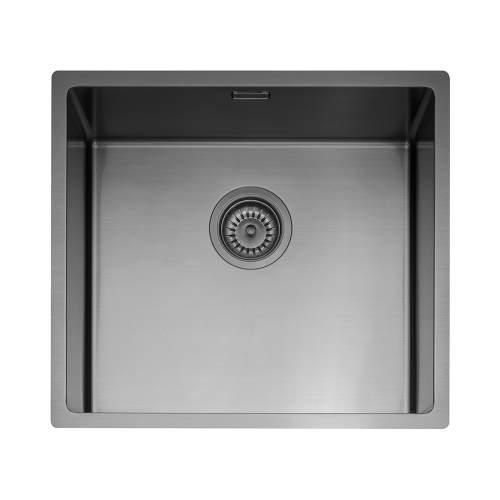 Caple Mode 45 Versatile Single Bowl Sink in Gunmetal Grey