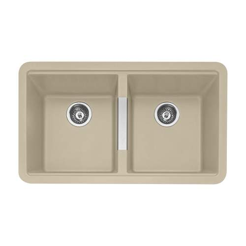 Caple Leesti 200 Double Bowl Granite Kitchen Sink in Desert Sand