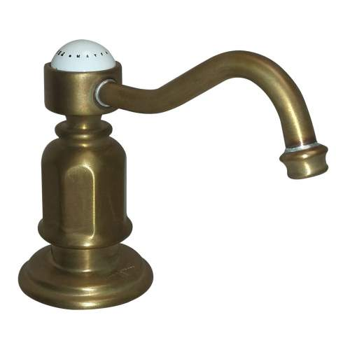 Perrin & Rowe 6995 Soap Dispenser in Aged Brass