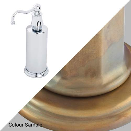 Perrin & Rowe 6633 Country Freestanding Soap Dispensers in Aged Brass