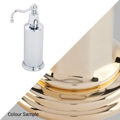 Perrin & Rowe 6633 Country Freestanding Soap Dispensers in Polished Brass