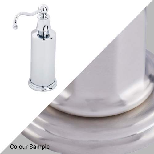 Perrin & Rowe 6633 Country Freestanding Soap Dispensers in Pewter