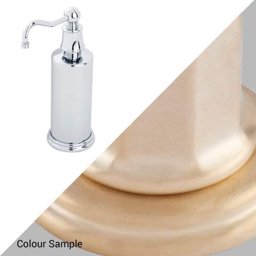 Perrin & Rowe 6633 Country Freestanding Soap Dispensers in Satin Brass
