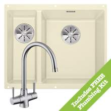 Blanco SUBLINE 340/160-U & ARTI  Kitchen Sink & Tap Pack