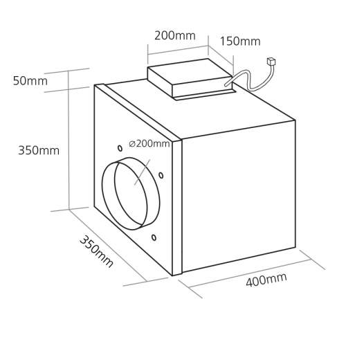 Caple DDMEXT25 Extraction Motor