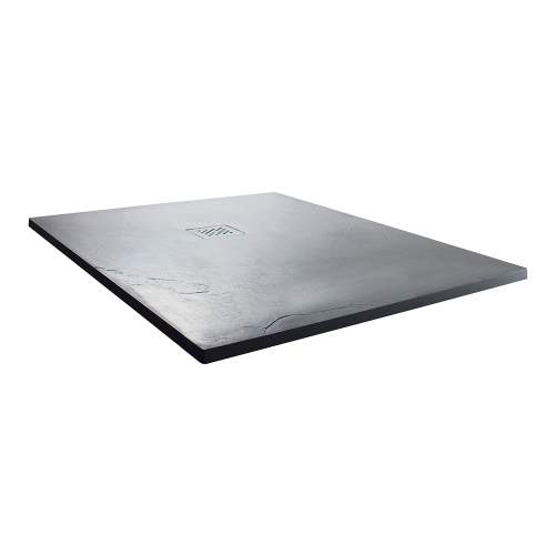 Aquabro Square Slate Effect Shower Trays in Anthracite